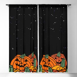 Spooky Pumpkin Patch at Halloween Blackout Curtain