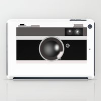 vintage camera iPad Cases featuring Camera by LeahOwen