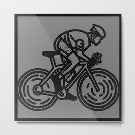 Cycling Metal Print
