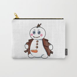 flashing snowman Flasher Present Winter Christmas Carry-All Pouch