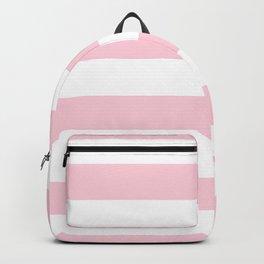 Light Soft Pastel Pink Cabana Tent Stripes Backpack