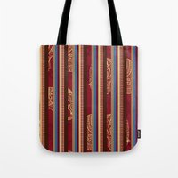 lindsay lohan Tote Bags featuring Lindsay Stripe by DesignsByMarly