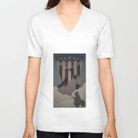 bioshock infinite V-neck T-shirts featuring Bioshock Infinite - One Nation Over God by s2lart