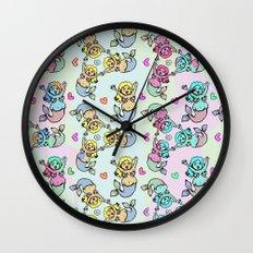 Mermaid Streams Wall Clock