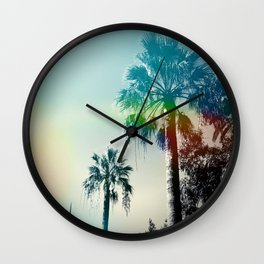 Palm trees of Barcelona Wall Clock
