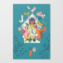 Cuckoo (Teal) Canvas Print