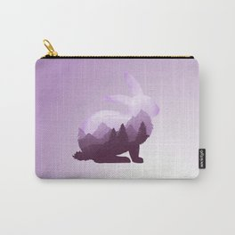 Rabbit Bunny Hare Double Exposure Surreal Wildlife Animal Carry-All Pouch