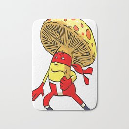 Mushroom Ninja Foodietoon Veggie Superheroes Bath Mat