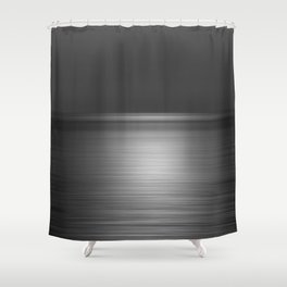 Sea at Sunset-Silver Shower Curtain