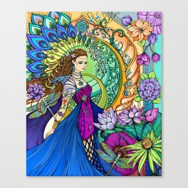 Peacock Goddess Canvas Print