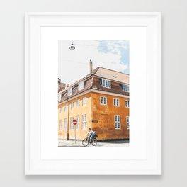 Copenhagen Cycling Framed Art Print