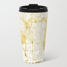 Seattle Map Gold Metal Travel Mug