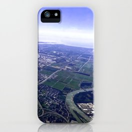 Aerial Landscape of Vancouver en route to Kelowna, British Columbia, Canada iPhone Case