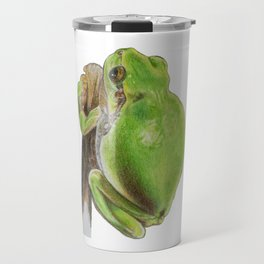 Plump Green Tree Frog Travel Mug