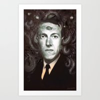 lovecraft Art Prints featuring H.P. Lovecraft  by MATT DEMINO