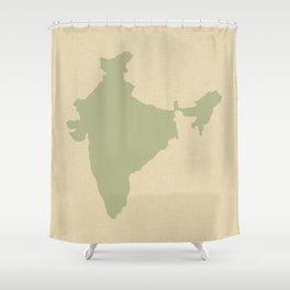 Coriander Blue Spice Moods India Shower Curtain