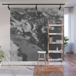 Aerial Alaska - B & W Wall Mural