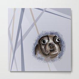 bluedog Metal Print