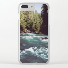 Pacific Northwest Wilderness Clear iPhone Case