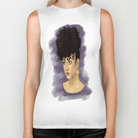 afro Biker Tanks featuring Afro by Adelys
