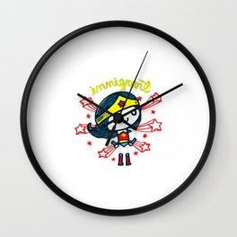 Proud Immigrant Wall Clock