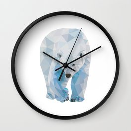 Geometric Polar Bear Wall Clock