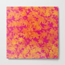 Autumn Leaves Pattern / GFTLeavesPattern001 Metal Print
