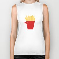 french fries Biker Tanks featuring Chicken Tenders and French Fries by Dang-Nam