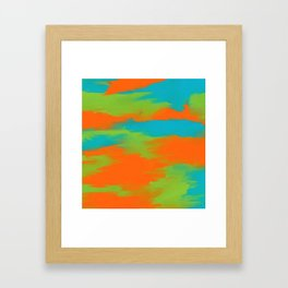 Colorful intense mixed Framed Art Print