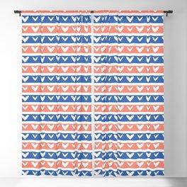 1950s Style Retro Love Heart Stripes Seamless Pattern Blackout Curtain