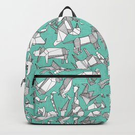 origami animal ditsy mint Backpack