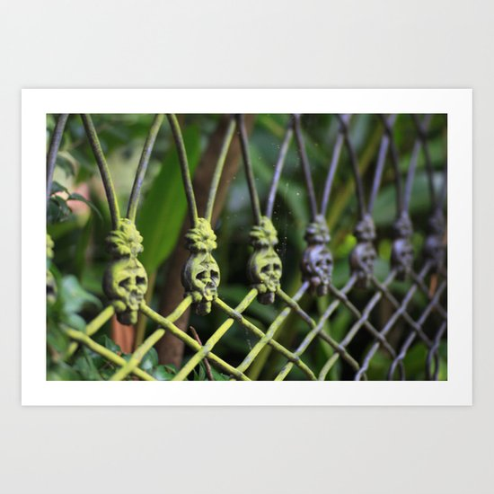 New Orleans - Anne Rice Fence Art Print