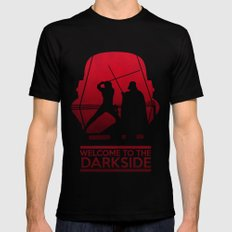 Welcome to the dark side Mens Fitted Tee Black MEDIUM