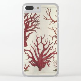 Naturalist Red Coral Clear iPhone Case