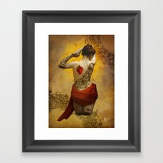 My Heart The Rose Framed Art Print