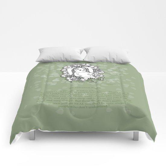 Velveteen Rabbit Wisdom Illustration for Children Comforters