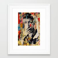 bob dylan Framed Art Prints featuring Bob Dylan by Michiel Folkers