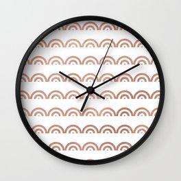 Elegant geometrical rose gold scallope pattern Wall Clock