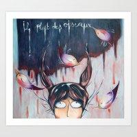 Art Print featuring Il pleut des oiseaux! by Soloka