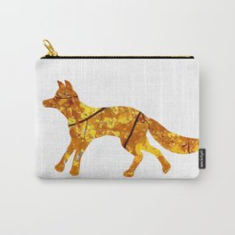 yellow maple trotting fox silhouette Carry-All Pouch