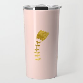 Pink Gold Foil 03 Travel Mug