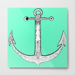 Redwood Anchor Metal Print