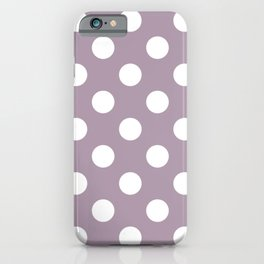 Lilac Luster - violet - White Polka Dots - Pois Pattern iPhone Case