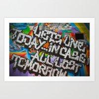 grafitti Art Prints featuring Grafitti by BrandNewMindsPhoto