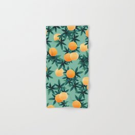Orange Twist Vibes #1 #tropical #fruit #decor #art #society6 Hand & Bath Towel