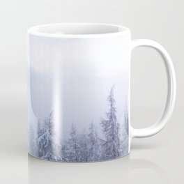 Winter wonderland, fog, spruce forest and mountains Coffee Mug