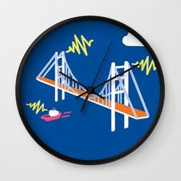 shocking bridge Wall Clock