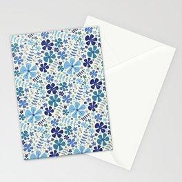 My Little Garden blue & green Stationery Cards