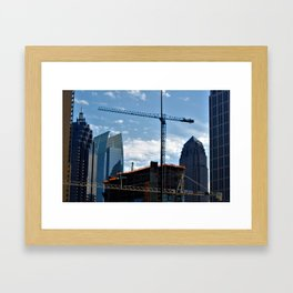 Don't Compare; Build into the Air. Framed Art Print