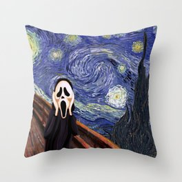 Scream Scary movie Throw Pillow